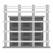 Building Exterior Icon. Flat Illustration Of Building Exterior Vector Icon For Web poster