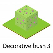 Bush Icon. Isometric Illustration Of Bush Vector Icon For Web poster