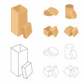 Box, Container, Package, And Other  Icon In Cartoon, Outline Style.case, Shell, Framework Icons In S poster
