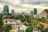 The City Of Ho Chi Minh Or Saigon In South Vietnam On An Overcast Day. poster