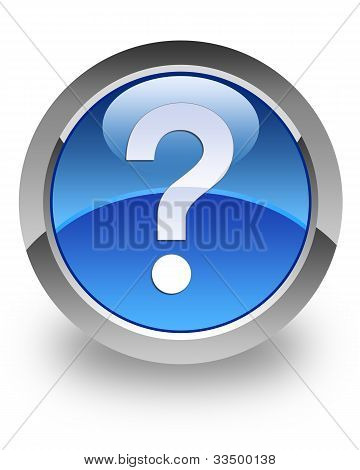 Question mark glossy icon