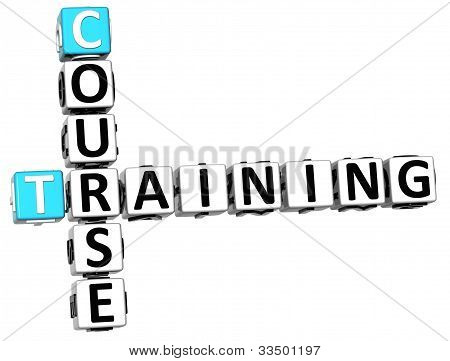 3D Course Training Crossword