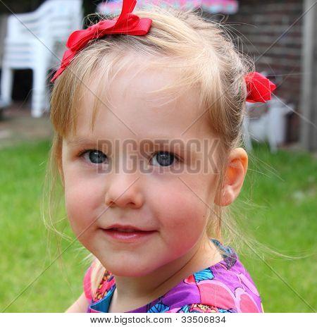 Cheeky young girl