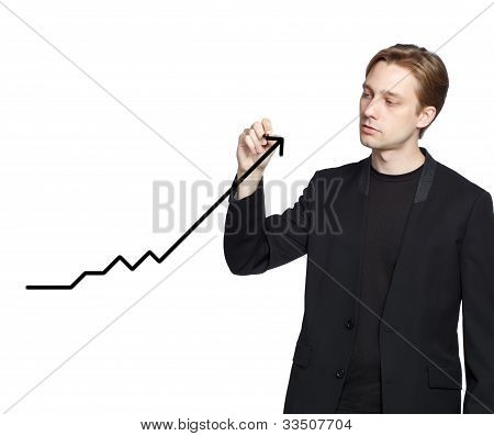Man Drawing A Graph (growth)