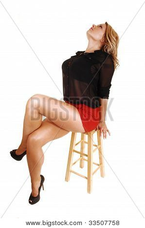 Young Woman Sitting.