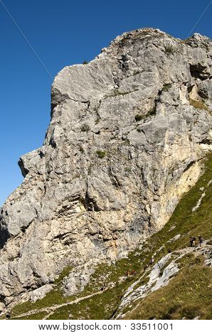 Rock face in Haute-Savoie France