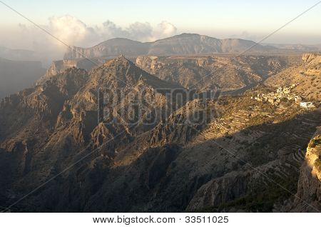 Jebel Akhdar mountains Sultanate of Oman