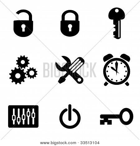 set vector computer icons