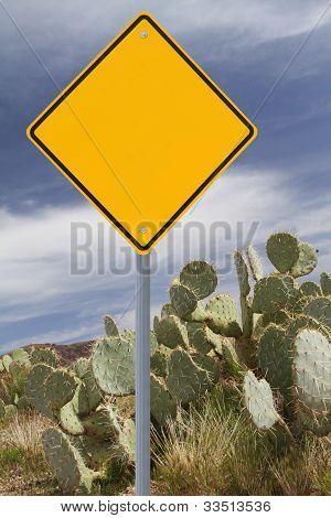 Blank Desert Road Sign