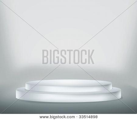 Fondo blanco podio