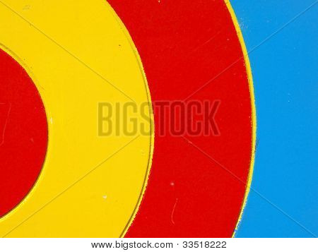 Colored wooden target