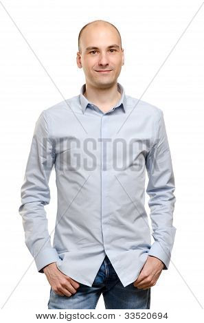 Portrait Of A Stylish Young Man Standing