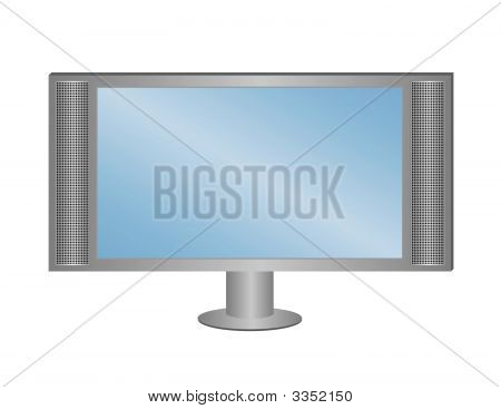 Lcd Tv On Pedestal