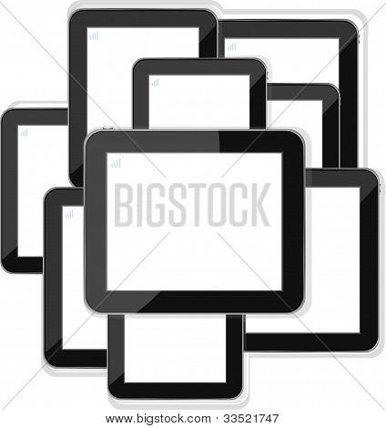 Set Of Tablet Pc Computers - ipad