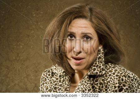 Hispanic Woman With Messy Hair