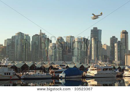 Floatplane Over Coal Harbor, Vancouver