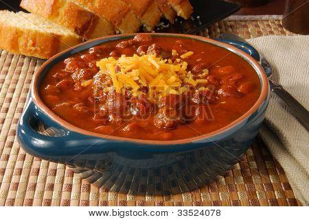 dampfende heiße chili