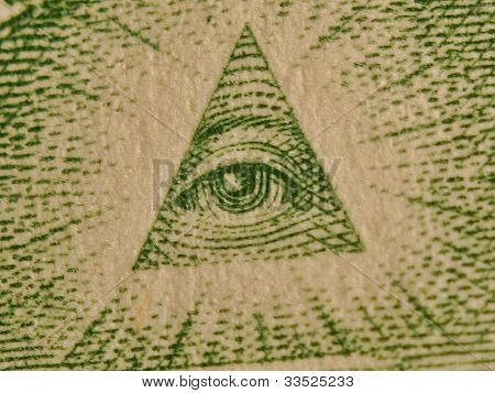 All seeing eye from one dollar