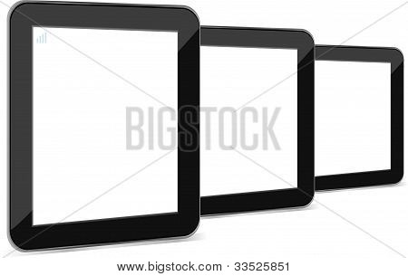 Tablet Pc ipad With Empty White Screen And Black Frame