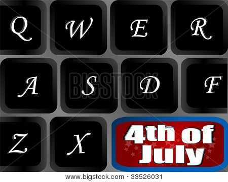 Usa Independence Key On Computer Keyboard