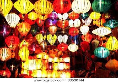 Asian Silk Lanterns