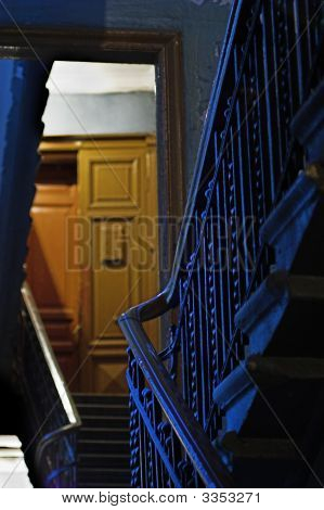 Backstairs In An Apartment Building