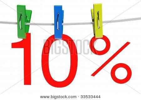 10 Percent Sale Symbol