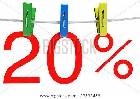 20 Percent Sale Symbol
