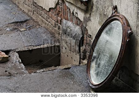 Thrown Out Mirror