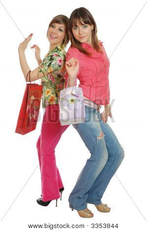 Two Fresh Pretty Girls Go Shopping