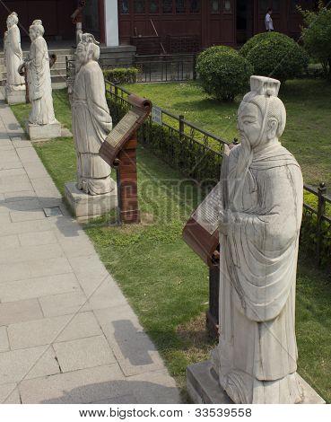 Confucian Scholar Statues in Nanjing China
