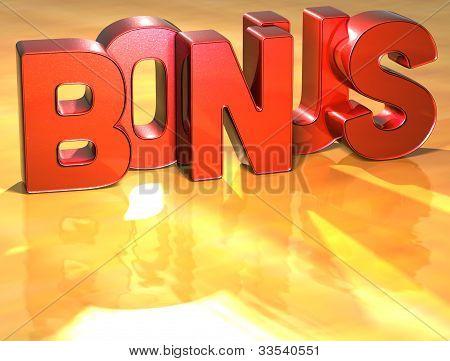 Word Bonus On Yellow Background