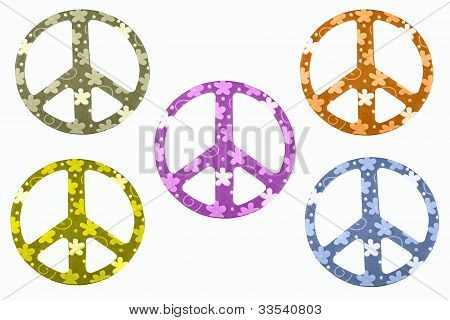 Peace Signs Isolated