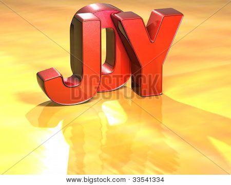 Word Joy On Yellow Background