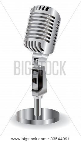 Microphone Isolated On A White