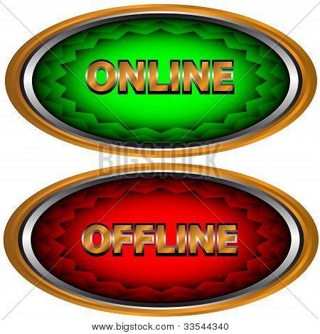 Ícone online e Offline