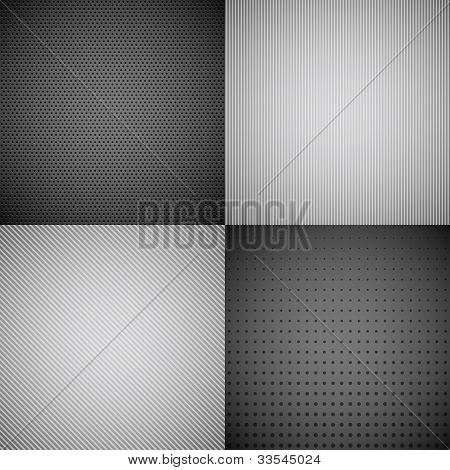 4 Metal Texture Backgrounds.