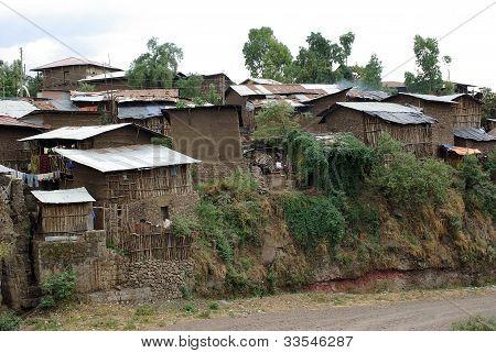 """Dorf von Lalibela, Ã""""thiopien"""
