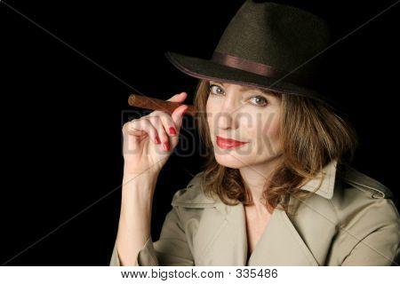 Cigar Smoking Spy