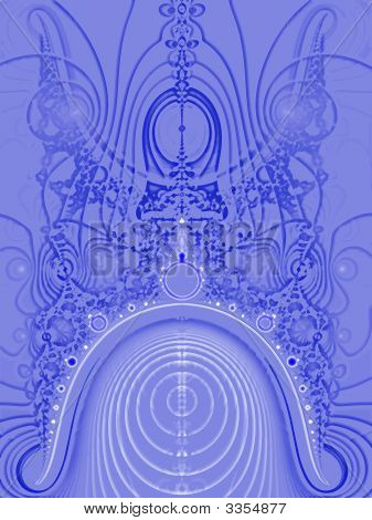 Science Fiction Blue Fractal 9 Planets Design