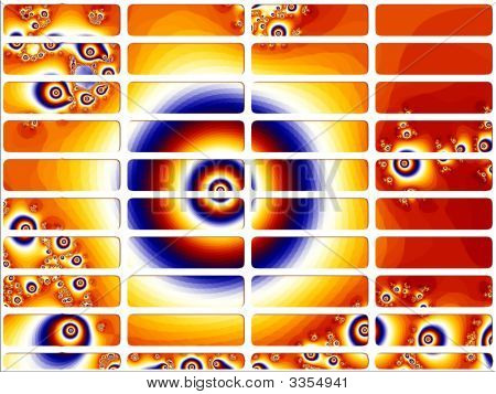 Orange Scary Eye Fractal Website Navigation Buttons Controls