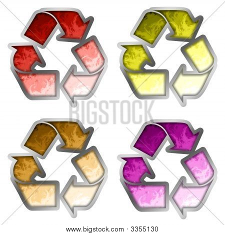 Colored Recycle Symbol