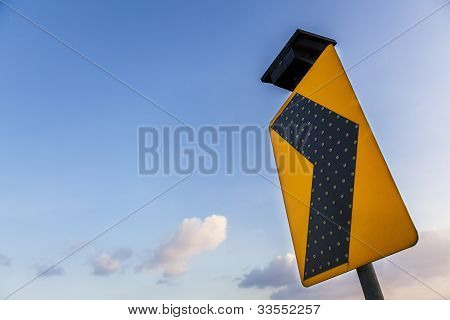 Yellow Traffic Label