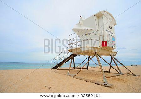 Lifeguard Station At Beach