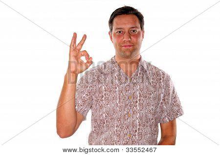 Man Gesturing Ok