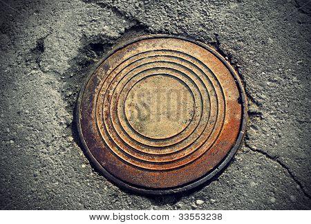 Rusty Round Manhole
