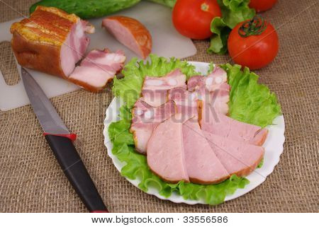 Deli Meats With Vegetables