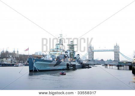 Hms Belfast River Thames London