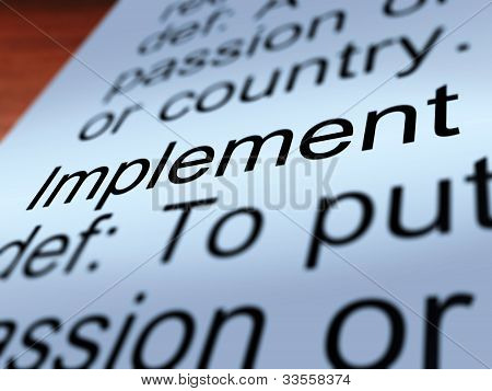 Implement Definition Shows Executing A Plan