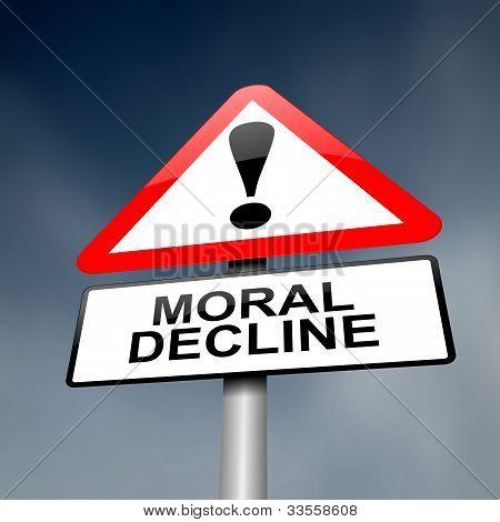 Moral Decline Concept.